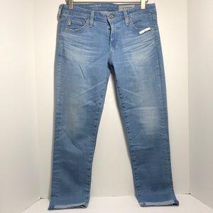 AG THE STILT ROLL-UP cigarette roll-up jeans 27